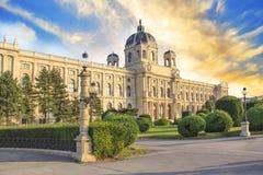 Vista bonita do museu de Art History em Viena, Áustria Fotografia de Stock Royalty Free