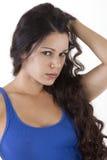 Vista bonita do olhar da mulher Fotos de Stock Royalty Free