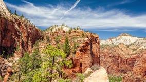 Vista bonita do parque nacional de Zion filme