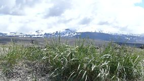 Vista bonita do volceno de Hekla em Islândia vídeos de arquivo