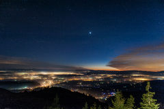 Vista bonita em Eslovênia Foto de Stock