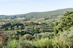 Vista bonita em Toscânia, Itália imagem de stock royalty free