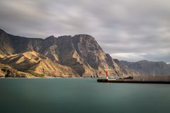 Vista bonita na costa oeste de Gran Canaria Fotografia de Stock