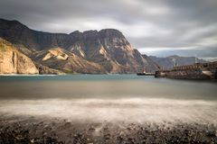Vista bonita na costa oeste de Gran Canaria Foto de Stock Royalty Free