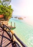 A vista bonita na ilha das tartarugas Slaves, Zanzibar fotos de stock