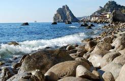 Vista bonita na montanha no mar Fotografia de Stock