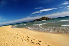 Vista bonita na praia de Chia Foto de Stock Royalty Free