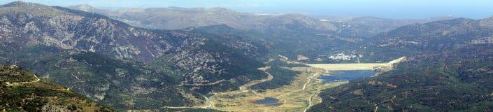 Vista bonita nas montanhas na ilha da Creta Imagem de Stock