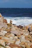Vista bonita no cabo da boa esperança, África do Sul fotografia de stock