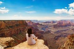 Vista bonita no dia ensolarado no parque nacional de Grand Canyon fotos de stock