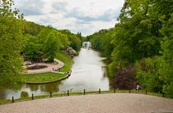 Vista bonita no lago no parque de Sofiyivsky em Uman, Ucrânia Fotos de Stock Royalty Free