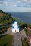 Vista bonita no monastério de Svyato-Bogorodicky Fotos de Stock Royalty Free