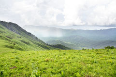 Vista bonita sobre as montanhas do platô de Nyika Foto de Stock Royalty Free