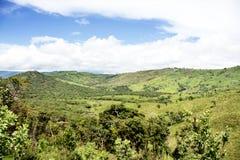 Vista bonita sobre montanhas do platô de Nyika Fotos de Stock