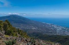 Vista bonita sobre o lado ocidental do La Palma, Espanha Fotografia de Stock Royalty Free