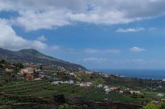 Vista bonita sobre o lado oriental do La Palma, Espanha Foto de Stock Royalty Free