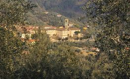 Vista Borgo Antico Fotografia Stock Libera da Diritti