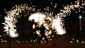 Vista borrada, mostra do fogo vídeos de arquivo