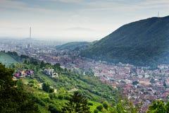 Vista Brasov Romania fotografia stock libera da diritti