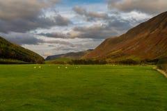Vista britannica della valle al tramonto Fotografia Stock