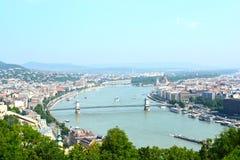Vista a Budapest Fotografia Stock Libera da Diritti