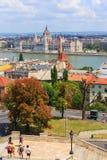 Vista a Budapest il 24 luglio 2014 Fotografia Stock