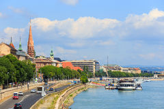 Vista a Budapest il 24 luglio 2014 Immagine Stock