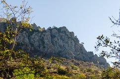 Vista cénico de Demerdji ao vale de Alushta crimeia Imagens de Stock