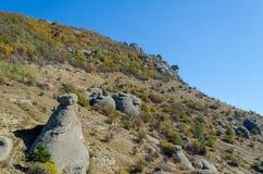 Vista cénico de Demerdji ao vale de Alushta crimeia Imagens de Stock Royalty Free