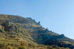 Vista cénico de Demerdji ao vale de Alushta crimeia Fotografia de Stock Royalty Free