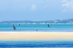 Vista cênico com litoral de Moçambique Imagem de Stock