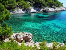 Vista cênico da baía do mar de adriático Imagens de Stock Royalty Free