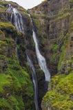 Vista cênico da cachoeira de Glymur - a cachoeira em segundo a mais alta o Fotografia de Stock Royalty Free