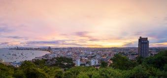 Vista cênico da cidade de Pattaya Imagem de Stock Royalty Free