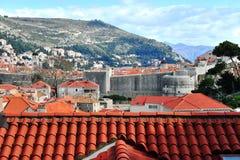 Vista cênico da cidade histórica de Dubrovnik Imagens de Stock