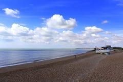 Vista cênico da costa Kent do canal inglês foto de stock royalty free