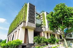 Vista cênico da escola das artes SOTA em Singapura Imagens de Stock