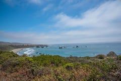 Vista cênico da estrada pacífica 1 do litoral de Califórnia Foto de Stock
