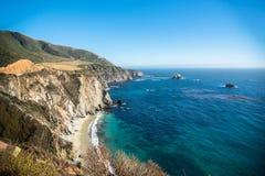 Vista cênico da estrada pacífica 1 do litoral de Califórnia Fotografia de Stock