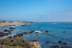 Vista cênico da estrada pacífica 1 do litoral de Califórnia Imagem de Stock