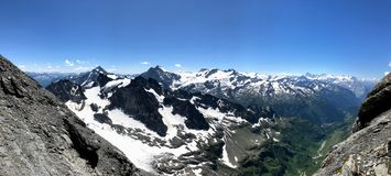 Vista cênico da montanha Titlis foto de stock