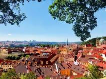 Vista cênico da Praga gloriosa, República Checa imagens de stock royalty free