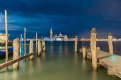 Vista cênico de St George Church e ilha, Veneza, Itália foto de stock