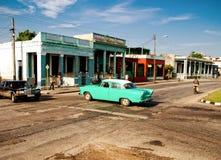 Vista cênico de uma cidade cubana Fotografia de Stock