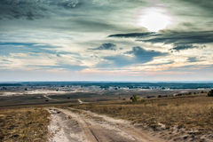 Vista cênico do deserto de Kharkov no outono Fotos de Stock Royalty Free