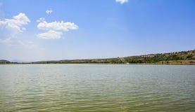 Vista cênico do lago Khabeki, logo vale imagens de stock royalty free