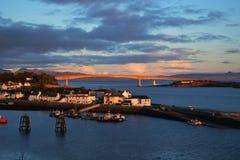 Vista cênico do porto Imagens de Stock Royalty Free