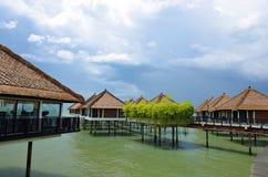 Vista cênico do porto Dickson, Malásia imagens de stock