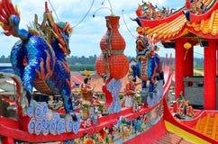 Vista cênico do porto Dickson, Malásia fotos de stock