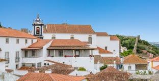 Vista cênico do verão em Obidos, distrito de Leiria, Portugal Imagens de Stock